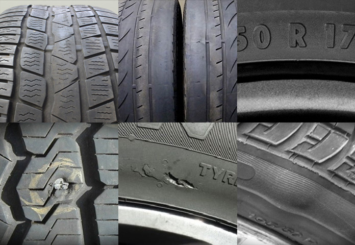 4029eecf30c Can you recognise a damaged tyre  Learn to spot the signs.  tyre damage montage image article AP